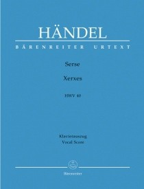 Handel: Serse (Xerxes) (HWV 40) published by Barenreiter Urtext - Vocal Score
