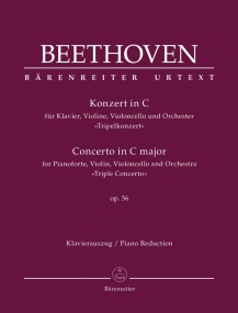 Beethoven: Concerto in C Opus 56 'Triple concerto' published by Barenreiter
