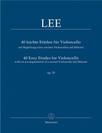 Lee: 40 Easy Etudes Opus 70 for Cello published by Barenreiter