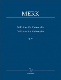 20 Etudes Opus 11 for Cello by Merk published by Barenreiter