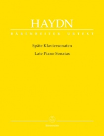 Late Piano Sonatas by Joseph Haydn published by Barenreiter