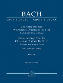 Bach: Choral Settings from Christmas Oratorio Parts 1 to 3 published by Barenreiter