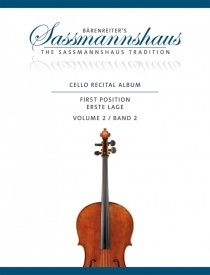 Sassmannshaus Cello Recital Album 2 published by Barenreiter