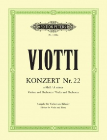 Viotti: Concerto No.22 in A minor for Violin published by Peters