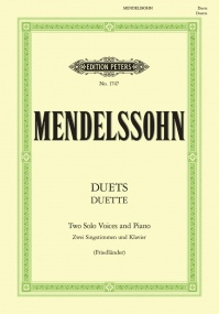 19 Duets for 2 Sopranos by Mendelssohn published by Peters Edition