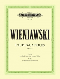 Wieniawski: Etudes Caprices Opus 18 for 2 Violins published by Peters