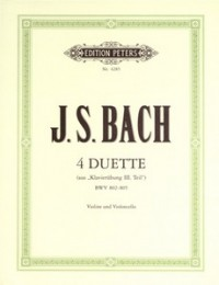 Bach: 4 Duets for violin & cello published by Peters