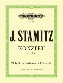 Stamitz: Concerto in G for Viola published by Peters Edition