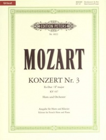 Mozart: Horn Concerto 3 in Eb KV447 for Horn published by Peters