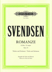 Svendsen: Romance by for Viola published by Peters