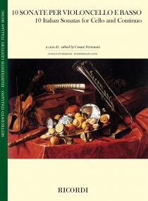 10 Italian Sonatas for Cello and Basso published by Ricordi