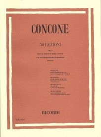 Concone: Fifty Lessons For Medium Voice Opus 9 published by Ricordi