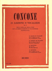 Concone: Twenty-Five Lessons For Medium Voice Opus 10 published by Ricordi