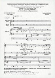 For the Fallen SATB + Narrator by Jenkins published by Boosey and Hawkes