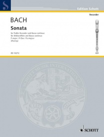 Bach: Sonata in F BWV1035  for Treble Recorder published by Schott