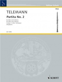 Telemann: Partita no. 2 in G for Oboe published by Schott