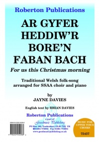 Davies: Ar Gyfer (For Us This Christmas..) SSAA published by Roberton