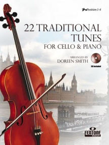 22 Traditional Tunes for Cello Book & CD published by Fentone