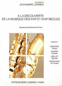 A La Decouverte De La Musique Volume 1 for Alto Saxophone published by Lemoine