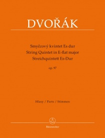 Dvorak String Quintet in Eb Major Opus 97 published by Barenreiter