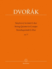 Dvorak String Quintet in G Opus 77 published by Barenreiter