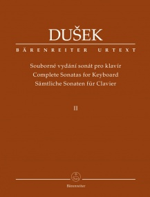 Dusek: Complete Sonatas for Keyboard Volume 2 published by Barenreiter