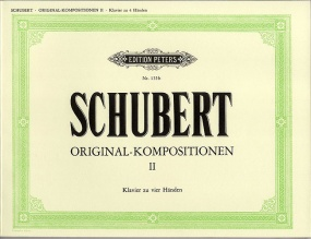 Schubert: Original Composition Volume 2 for Piano Duet published by Peters Edition