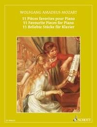 11 Favourite Pieces for Piano by Mozart published by Schott and Co