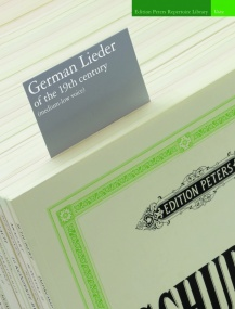 German Lieder of the 19th century Medium Low Voice published by Peters