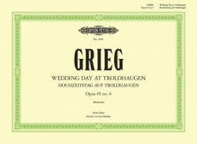 Grieg: Wedding Day at Troldhaugen Opus 65/6 for Piano Duet published by Peters