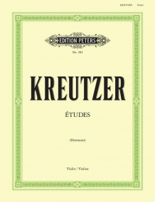 Kreutzer: 42 Etudes for Violin published by Peters Edition