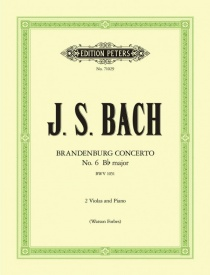 Bach: Brandenburg Concerto No.6 BWV 1051 for 2 Violas & Piano published by Peters