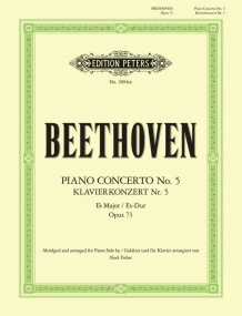 Beethoven: Concerto No 5 in Eb Opus 73 Abridged for Solo Piano published by Peters