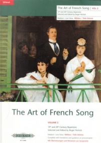 Art of French Song Volume 2 High published by Peters Edition