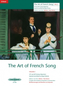 Art of French Song Volume 2 Medium/Low published by Peters Edition