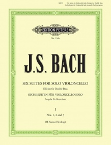 Bach: 6 Suites for Cello transcribed for Double Bass Volume 1 published by Peters