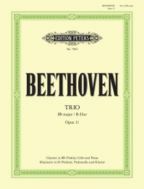 Beethoven: Clarinet Trio Opus 11 in Bb published by Peters