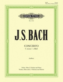 Bach: Concerto in C Minor BWV1060 for Violin & Oboe published by Peters