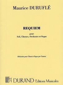 Durufle: Requiem published by Durand - Vocal Score