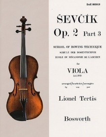 Sevcik: School Of Technique Opus 2 Part 3 for Viola published by Bosworth