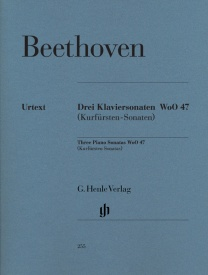 Beethoven: 3 Piano Sonatas [Kurfürsten] WoO 47 for Piano published by Henle