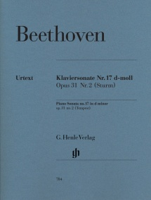 Beethoven: Sonata in D Minor Opus 31 No 2 (The Tempest) for Piano published by Henle