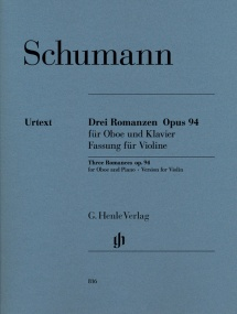 Schumann: 3 Romances Opus 94 for Violin published by Henle
