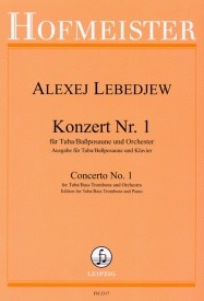 Concerto No 1 for Tuba by Lebedjew published by Hofmeister