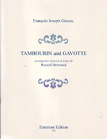 Tambourin and Gavotte by Gossec for Bassoon published by Emerson