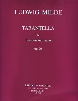 Milde: Tarantella Opus 20 for Bassoon published by Musica Rara