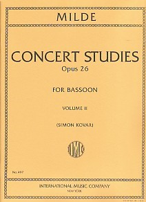 Milde: 50 Concert Studies Opus 26 Volume 2 for Bassoon published by IMC