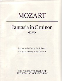 Mozart: Fantasia in C Minor K396 for Piano published by ABRSM