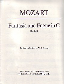 Mozart: Fantasia and Fugue in C K394 for Piano published by ABRSM