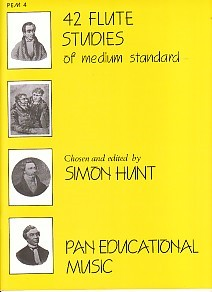 42 Flute Studies of Medium Standard for Flute published by Pan Educational Music